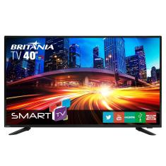 "Smart TV LED 40"" Britânia Full HD BTV40E63SN 3 HDMI"