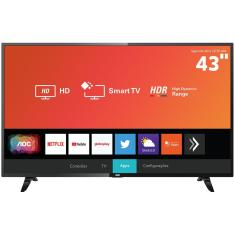 "Smart TV TV LED 43"" AOC Full HD HDR 43S5295 3 HDMI"