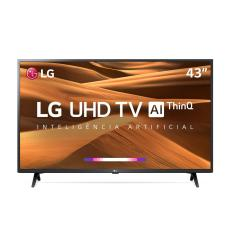 "Smart TV LED 43"" LG ThinQ AI 4K 43UM7300PSA 3 HDMI"