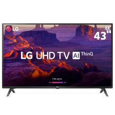 "Foto Smart TV LED 43"" LG ThinQ AI 4K 43UK6310PSE 4 HDMI"