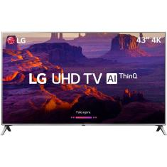 "Foto Smart TV LED 43"" LG ThinQ AI 4K 43UK6510PSF 4 HDMI"