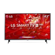 "Smart TV TV LED 43"" LG ThinQ AI Full HD HDR 43LM6300PSB 3 HDMI"