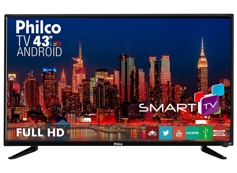 24780bb3760be TV 2 HDMI Philco PH43N91DSGWA
