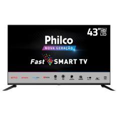 "Smart TV TV LED 43"" Philco Full HD PTV43N5CG70BLF 3 HDMI"