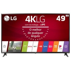 "Foto Smart TV LED 49"" LG 4K HDR 49UJ6300 3 HDMI"