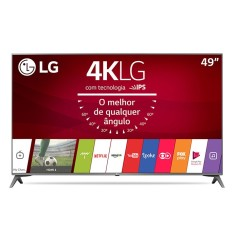 "Foto Smart TV LED 49"" LG 4K HDR 49UJ6565 4 HDMI"