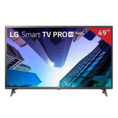 "Smart TV TV LED 49"" LG ThinQ AI 4K 49UM731C 3 HDMI"