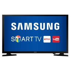 "Foto Smart TV LED 49"" Samsung Série 5 Full HD UN49J5200 2 HDMI"