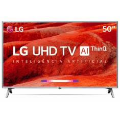 "Smart TV TV LED 50"" LG ThinQ AI 4K HDR 50UM7510PSB 4 HDMI"