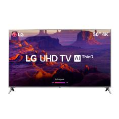 "Foto Smart TV LED 50"" LG ThinQ AI 4K HDR 50UK6510PSF"