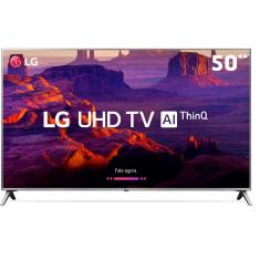 "Foto Smart TV LED 50"" LG ThinQ AI 4K HDR 50UK6520PSA"