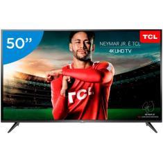 """Smart TV LED 50"""" TCL 4K HDR 50P65US 3 HDMI"""