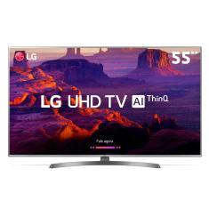 """Smart TV LED 55"""" LG ThinQ AI 4K HDR 55UK6540PSB"""