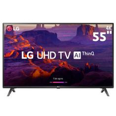 "Foto Smart TV LED 55"" LG ThinQ AI 4K 55UK6360PSF 4 HDMI"