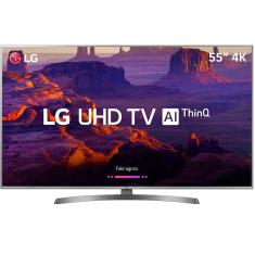 "Foto Smart TV LED 55"" LG ThinQ AI 4K 55UK6530PSF 4 HDMI"