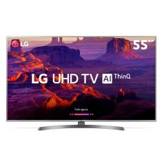 "Foto Smart TV LED 55"" LG ThinQ AI 4K 55UK6540PSB 4 HDMI"