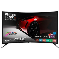 "Foto Smart TV LED 55"" Philco 4K PH55A16DSGWA 3 HDMI"