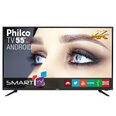 "Foto Smart TV LED 55"" Philco 4K PH55A17DSGWA 3 HDMI"
