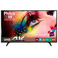 "Foto Smart TV LED 55"" Philco 4K PH55E61DSGWA 3 HDMI"