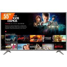 "Smart TV LED 55"" Semp 4K 55SK6200 3 HDMI"