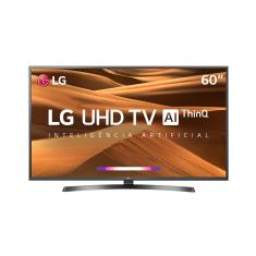 "Foto Smart TV LED 60"" LG ThinQ AI 4K 60UM7270PSA 3 HDMI 
