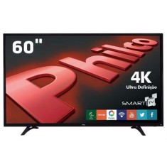 "Foto Smart TV LED 60"" Philco 4K PH60D16DSGWN 3 HDMI USB"