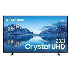 """Smart TV TV LED 60"""" Samsung Crystal 4K HDR 60AU8000 3 HDMI"""