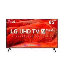 "Smart TV TV LED 65"" LG ThinQ AI 4K HDR 65UM7520PSB 4 HDMI"