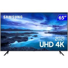 """Smart TV TV LED 65"""" Samsung Crystal 4K HDR 65AU7700 3 HDMI"""