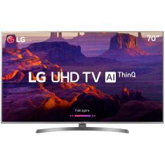 """Smart TV LED 70"""" LG ThinQ AI 4K 70UK6540PSA 4 HDMI"""