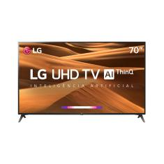 "Smart TV TV LED 70"" LG ThinQ AI 4K 70UM7370PSA 3 HDMI"