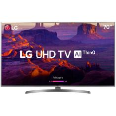 "Smart TV LED 70"" LG ThinQ AI 4K 70UK6540PSA 4 HDMI"