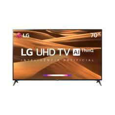 """Smart TV LED 70"""" LG ThinQ AI 4K 70UM7370PSA 3 HDMI"""