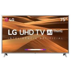 "Smart TV TV LED 75"" LG 4K Netflix 75UM7510PSB 4 HDMI"