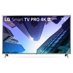 """Smart TV TV LED 75"""" LG ThinQ AI 4K 75UM751C0SB 4 HDMI"""