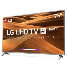 "Foto Smart TV LED 75"" LG ThinQ AI 4K 75UM7570PSB HDMI 