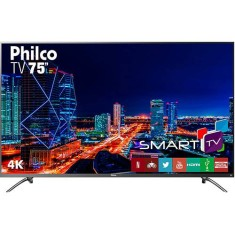 "Foto Smart TV LED 75"" Philco 4K PTV75E30DSWNT 3 HDMI"