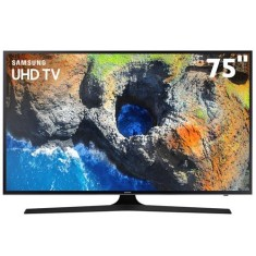 "Foto Smart TV LED 75"" Samsung Série 6 4K HDR 75MU6100"