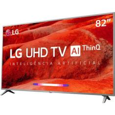 "Smart TV TV LED 82"" LG ThinQ AI 4K HDR 82UM7570PSB 4 HDMI"