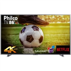 "Smart TV LED 86"" Philco 4K PTV86E30DSWNT 3 HDMI"