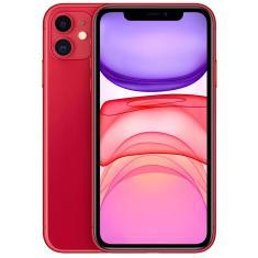 Smartphone Apple iPhone 11 Vermelho 64GB iOS Câmera Dupla