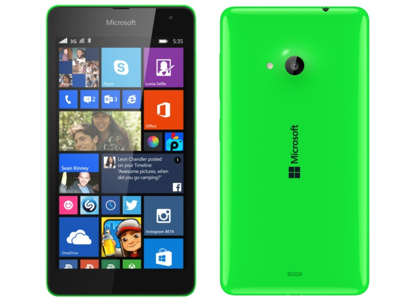 8eb687fa931 Smartphone Microsoft Lumia 535 8GB Qualcomm Snapdragon 200 2 Chips 5,0 MP 1  GB