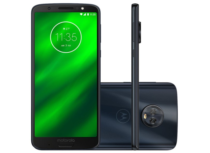 ba8fcbca73 Smartphone Motorola Moto G G6 Plus XT1926-8 64GB 2 Chips 12