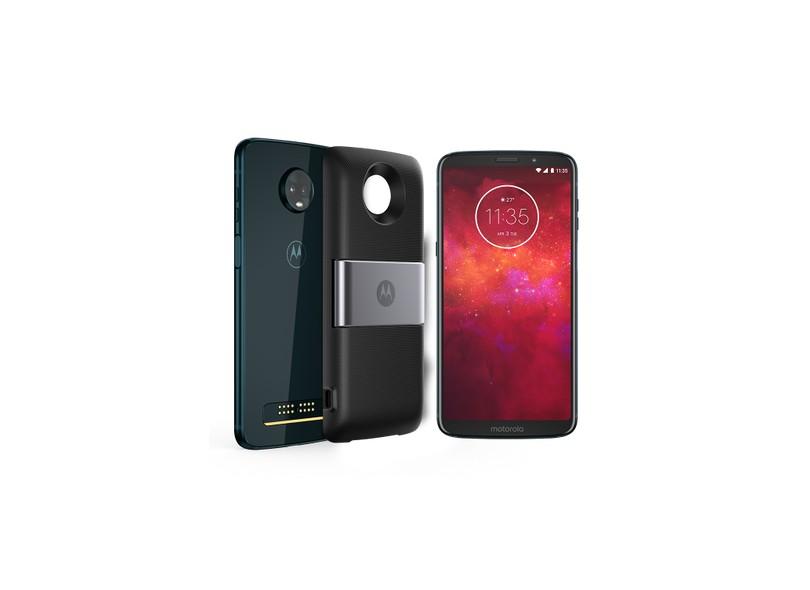 ee07e83c4 Smartphone Motorola Moto Z Z3 Play Power Pack   DTV Edition XT1929-5 64GB 2  Chips 12