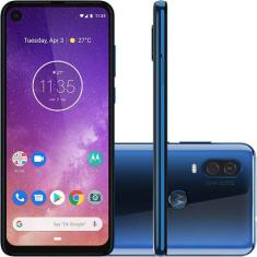 Smartphone MotorolaOne Vision XT1970-1 128GB Câmera Dupla Exynos 9609 2 Chips Android 9.0 (Pie) 3G 4G Wi-Fi