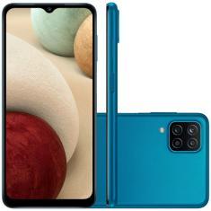 Smartphone Samsung Galaxy A12 SM-A125MZ 64GB Câmera Quádrupla MediaTek Helio P35 2 Chips Android 10