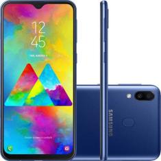Foto Smartphone Samsung Galaxy M20 SM-M205M 64GB 13,0 MP 2 Chips Android 9.0 (Pie) 3G 4G Wi-Fi