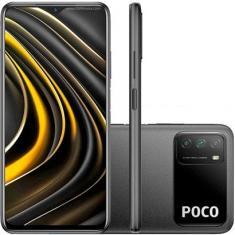 Smartphone Xiaomi Pocophone Poco M3 128GB Câmera Tripla Qualcomm Snapdragon 662 2 Chips Android 10