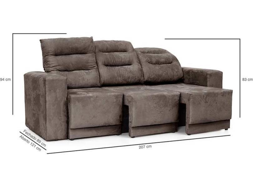 Awe Inspiring Sofa 3 Lugares Reclinavel Retratil Suede Infinity Legacy Sofas Machost Co Dining Chair Design Ideas Machostcouk