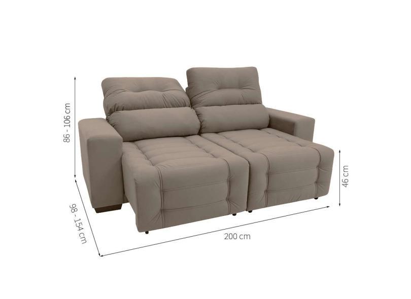 Amazing Sofa 3 Lugares Retratil Reclinavel Suede Blenda Ii Mobly Machost Co Dining Chair Design Ideas Machostcouk